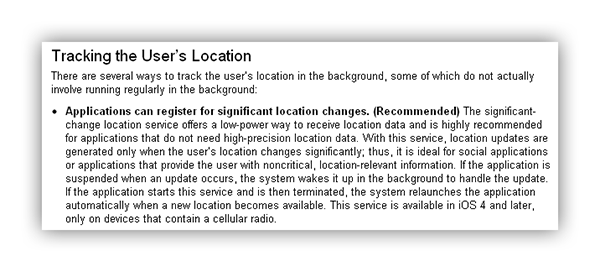 Successful iOS Background Location reporting | Mindsizzlers